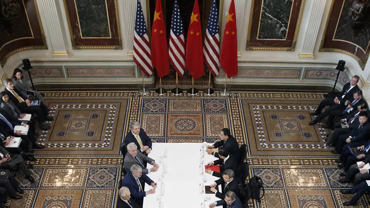 Handelsgespräche zwischen Regierungsvertretern von China und den USA in Washington. (Archivbild)
