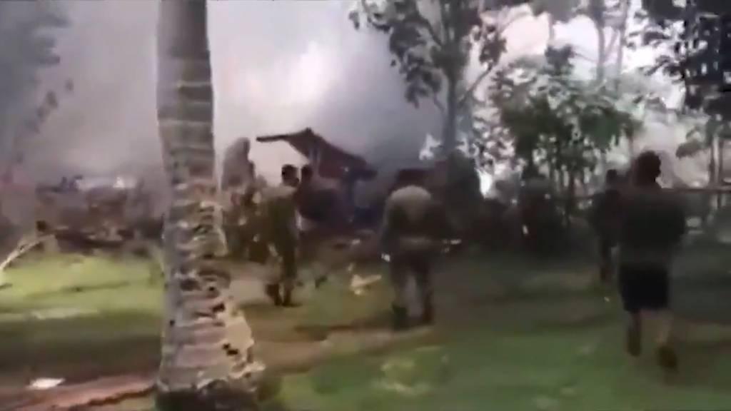 Philippinisches Militärflugzeug abgestürzt - mindestens 29 Tote