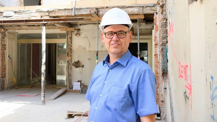 Antony Strub, Gesamtprojektleiter der Bäderbaustelle: «Wir merken beim textilfreien Baden einen gewissen Wertewandel.»