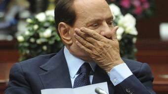 Die von Silvio Berlusconi einberufene Krisensitzung endet ohne Ergebnis (Archiv)