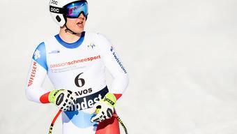 Junioren-Abfahrts-Weltmeister Lars Rösti wird im Super-G nur Fünfter