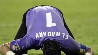 Der 44-jährige Essam El Hadary kanns wohl kaum fassen, dass er beim Afrika-Cup zum Einsatz kommt