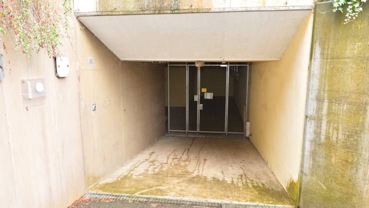 Der Eingang zur unterirdischen Anlage beim Alten Spital Sunnepark.