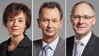 Ruth Humbel, Philipp Müller und Hansjörg Knecht.