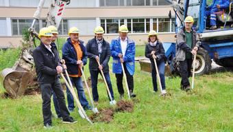 Die Arbeiten für den Schulhaus-Neubau Lanzrain haben begonnen.