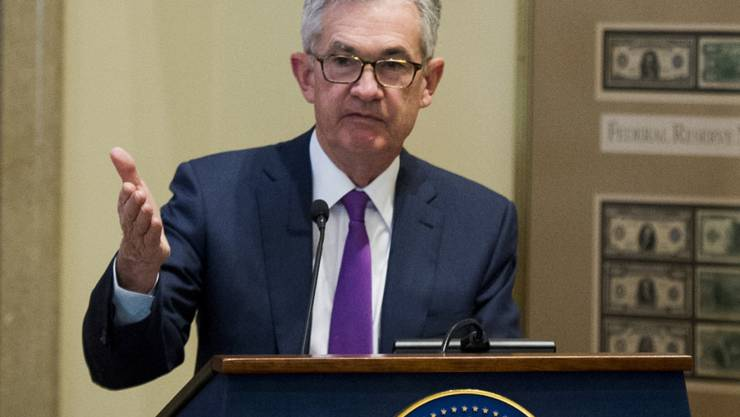Federal Reserve Chef Jerome Powell schätzt die US-Wirtschaft weiter als sehr gut ein. (Archiv)