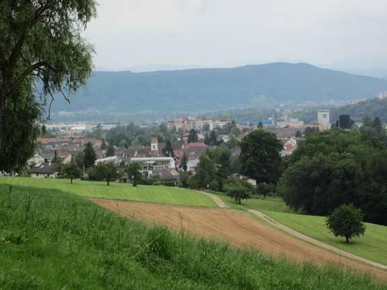 Und hier vom Schillingsrain ein Blick auf Frenkendorf, wo genau hier das Unwetter seinen Anfang nahm.