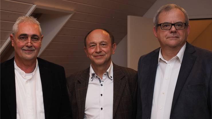 Drei Kandidaten: Daniel Steiner, Arpàd Major und Stephan Wiestner (v.l.).