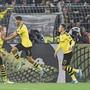 Können die Dortmunder wie zuletzt gegen Gladbach auch gegen Inter Mailand jubeln? Bild: Keystone/SDA (Dortmund, 19. Oktober 2019)