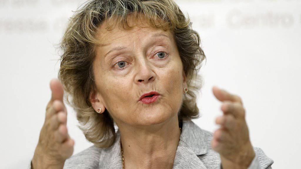 Finanzministerin Eveline Widmer-Schlumpf hat den Weg für den automatischen Informationsaustausch geebnet. (Archivbild)