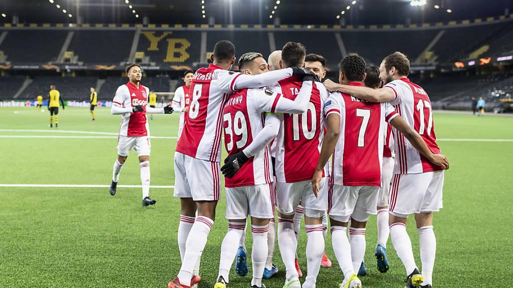 Favorit Ajax Amsterdam kann gegen YB auch im Rückspiel jubeln, bekundet allerdings mehr Mühe mit dem Schweizer Meister