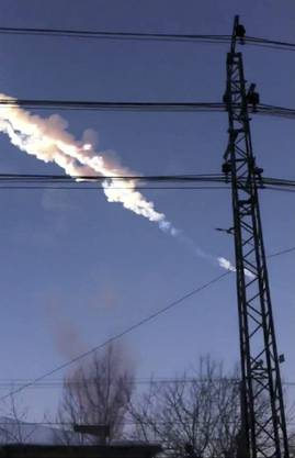 Bei dem Meteoritenregen wurden hunderte Menschen verletzt.