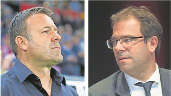 Patrick Rahmen (l.) gibt viel auf das Urteil von Georg Heitz (r.). Dieser war schon zwei Mal im Brügglifeld, zwei Mal gewann dabei der FC Aarau.