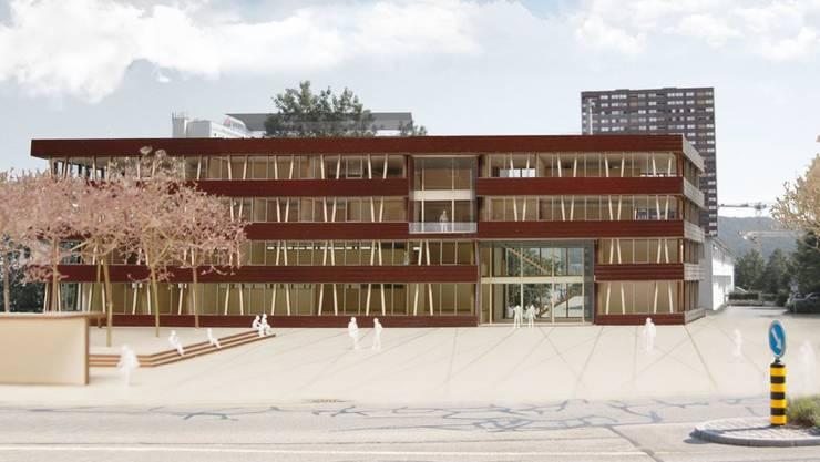 Das neue Gemeindehaus Spreitenbach mit eingespartem Dachstock für 13 statt 18 Millionen Franken.