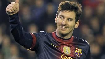 Barcelona-Superstar Lionel Messi skorte schon wieder zweimal.