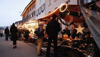 Nach einem Jahr Pause findet der Klingnauer Chlausmarkt am Samstag wieder statt. (Archiv)