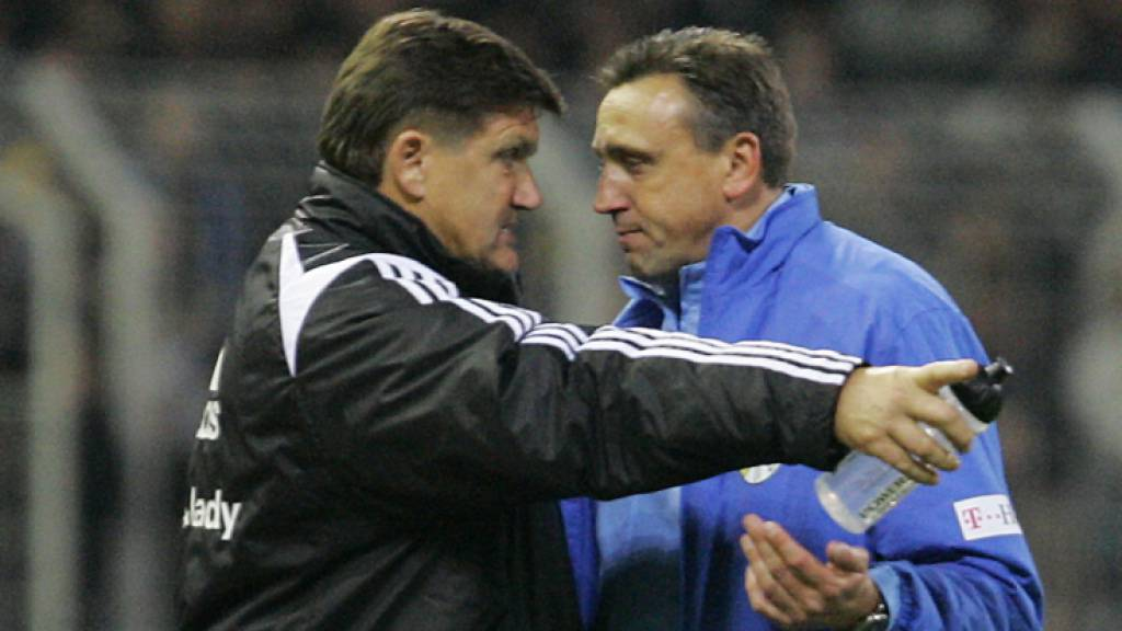 Zu Beginn seiner Trainerkarriere war Valdas Ivanauskas (rechts) in Deutschland bei Carl Zeiss Jena engagiert