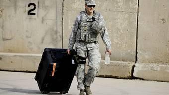 Ein US-Soldat, der vor einem Jahr den Irak Richtung Heimat verlassen hatte (Archiv)