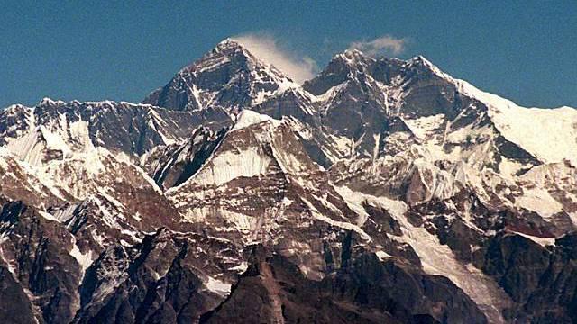 Blick auf den grössten Berg - den Mount Everest (Archiv)