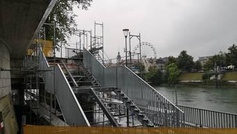 Noch fehlen die Tritte der neuen Treppe; bis Ende des Monats sind auch die montiert.
