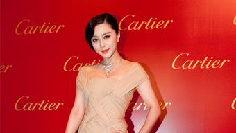 Die chinesische Schauspielerin Fan Bingbing bei der Eröffnung des Cartier-Flagship-Stores in Hongkong.