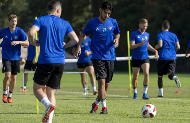 Zambrano beim Training mit dem FC Basel.