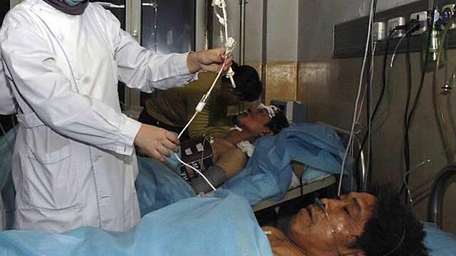 Verletzte nach Grubenunglück werden gepflegt