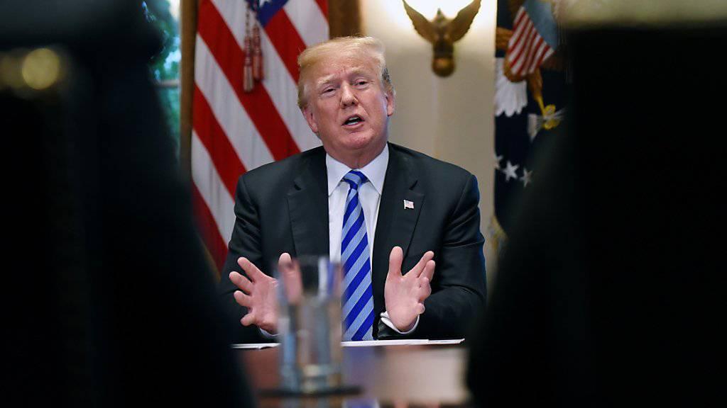 """""""Man kann gar nicht glauben, wie schlimm diese Menschen sind"""": US-Präsident Donald Trump über illegale Einwanderer."""