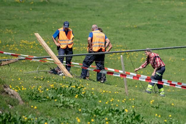 Ein Mitarbeiter der Titlisbahnen wurde so schwer verletzt, dass er noch auf der Unfallstelle verstarb.