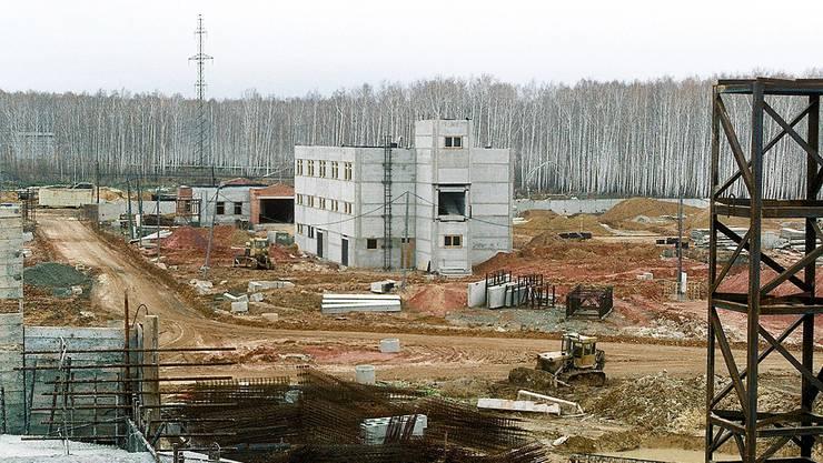 Das Verwaltungsgebäude des Atommülllagers im russischen Majak. (Archiv)