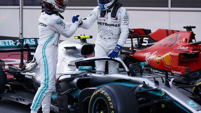 Mercedes-Duo im Hoch: Die Rivalität zwischen Lewis Hamilton und Valtteri Bottas ist bis heute ohne jedes Scharmützel geblieben