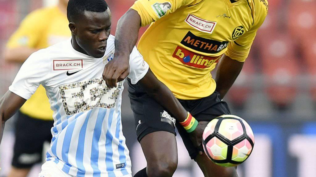 Der Kameruner Christian Zock (rechts) wechselt von der der Challenge League in die Super League