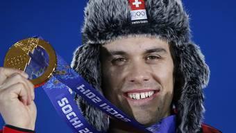 Da hatte er allen Grund zum Strahlen: Sandro Viletta 2014 als Olympiasieger in der Kombination