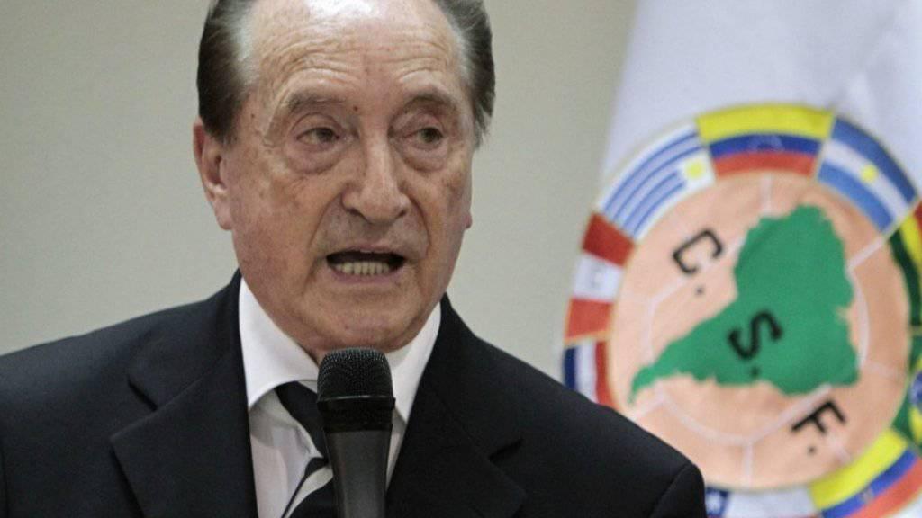 Der in der Schweiz verhaftete uruguayanische ehemalige FIFA-Vizepräsident Eugenio Figueredo (Archivbild)