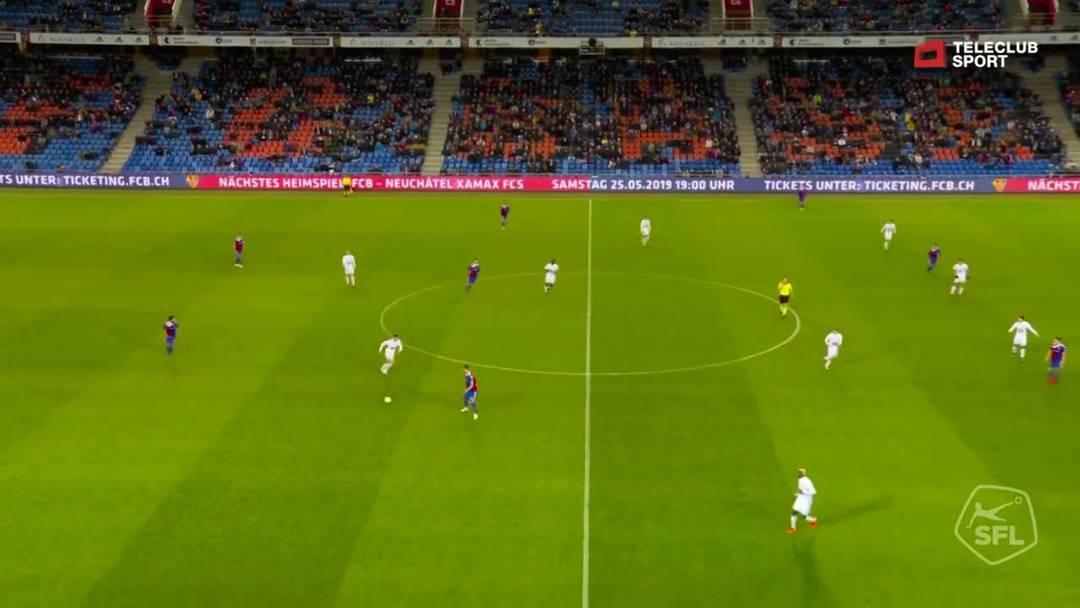 83. Minute: Schuss von Albian Ajeti (FC Basel 1893)