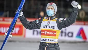 Halvor Egner Granerud gewinnt in Engelberg zum vierten Mal in Serie in diesem Weltcupwinter.