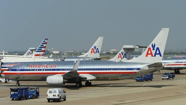 American-Airlines-Flugzeuge in Dallas (Archiv).