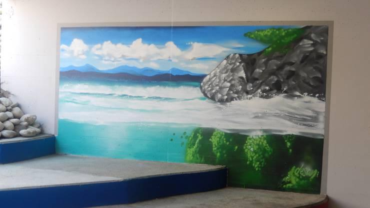 Seit Mittwoch wertet dieses «Kunstwerk» die Blaue-Post-Unterführung in Solothurn auf.