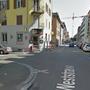 Tatort: Die Verzweigung Westrasse/Marienstrasse in Wiedikon.