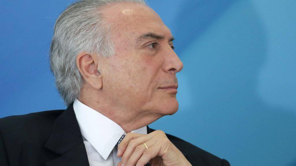 Brasiliens Oberstes Gericht billigt Vorermittlungen gegen Staatspräsident Michel Temer. (Archiv)