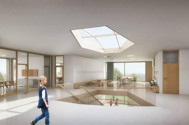 Der dreigeschossige Neubau soll über lichtdurchflutete Räume verfügen.