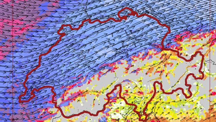 Um drei Uhr morgens hat der Sturm seine Höchstwerte erreicht. Mit über 140 km/h ist Petra über das Mittelland bis St.Gallen gefegt.