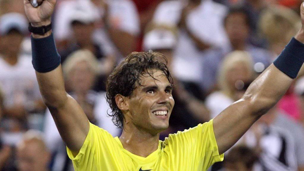 Raphael Nadal modelt für Tommy Hilfiger - unter anderem als Tennis-Stripper (Archiv)