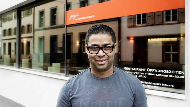 Jayesh Kumar war 2014 mit seinem Restaurant in den Ackermannshof gezogen. Bild: Alexander Palacios