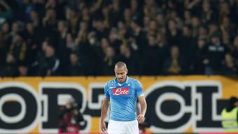 Null Einsatzminuten seit fast einem Monat bei der SSC Napoli: Unter Trainer Rafael Benitez scheint Gökhan Inler keine Zukunft mehr zu haben.