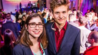 Verantwortlich für den musikalischen Stilbruch: Die Kantischüler Nina Marra und Gabriel Obrecht.