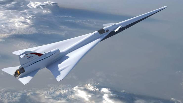 So soll die NASA-Version der legendären Concorde aussehen: Tests für das Überschall-Passagierflugzeug sollen im Jahr 2021 beginnen.