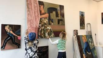 Mieter und Mieterinnen sollen die Werke selbst abholen: im Atelier von Jung-Yeun Jang.