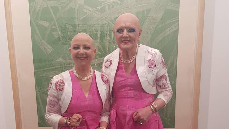 Eva & Adele, Künstlerduo aus Berlin. «Pink ist für uns ein Statement», sagen die Performancekünstler.