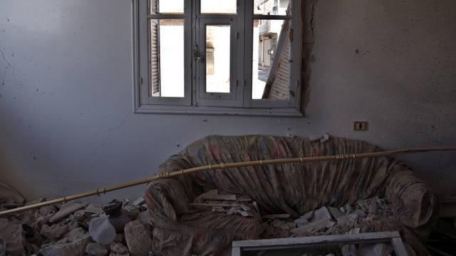 Zerstörtes Haus bei Aleppo: Die Lage in Aleppo ist unklar (Archiv)